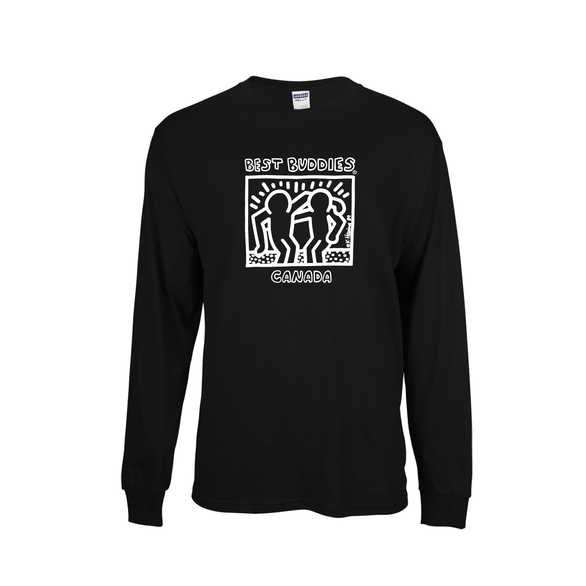 Best Buddies. Best Buddies Long Sleeve Logo T-shirt English (Adult)